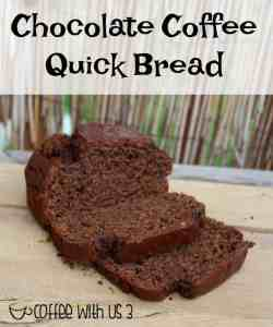 Chocolate & Coffee combine to make this easy & delicious mocha quick bread!