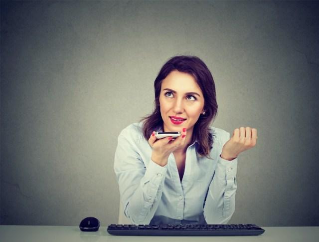 woman, recording, transcript, descript, automatic, recorder, phone, coffee, writers, blog