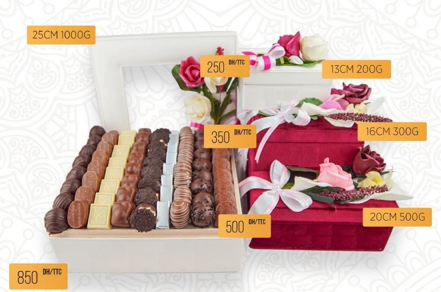 coffret chocolat suisse floral carre 200g maroc