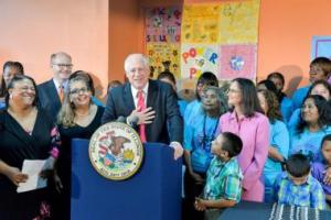 POWER-PAC parent leaders joined the Governor for two of the bill signings this summer.