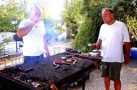allume feu barbecue