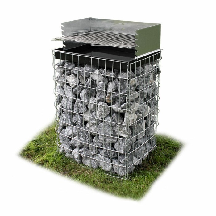 gabion barbecue