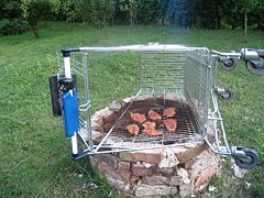 grille verticale pour barbecue