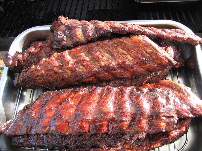 travers porc barbecue