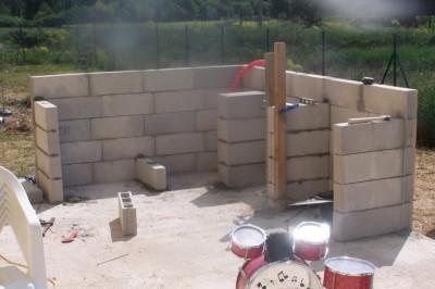 barbecue en pierre plan