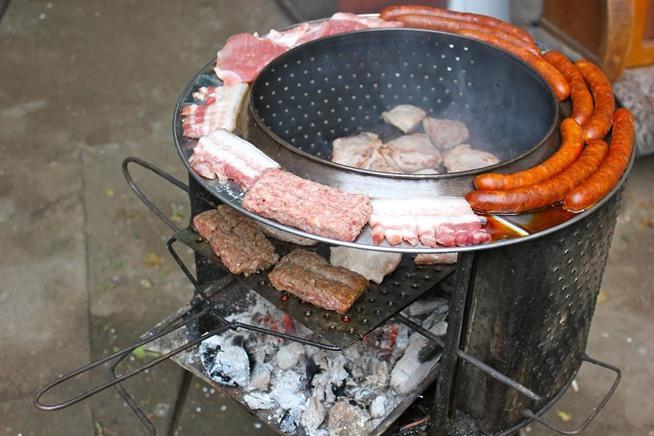 barbecue avec un tonneau
