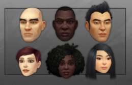 Customizações de rosto para Humanos