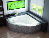Small corner bathtub are definitely worth considering ...