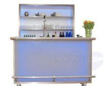Mobiele luxe bar met led verlichting en achterwand