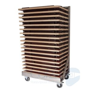 Transportkar klaptafel of examentafel