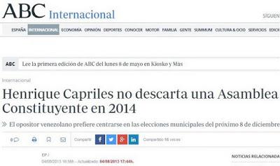 Capriles costituente ABC España