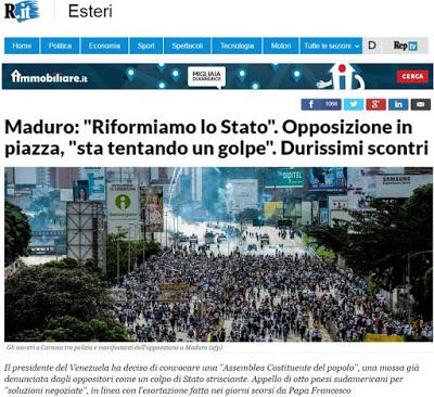 La Repubblica per l'opposione staLa Repubblica per l'opposione sta tentando un golpe tentando un golpe