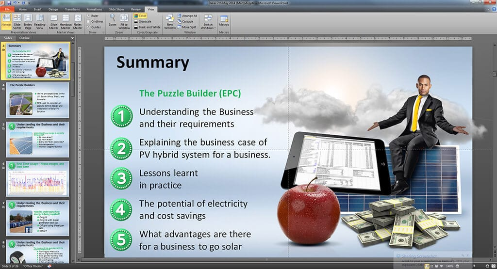 RenEnergy PowerPoint Design