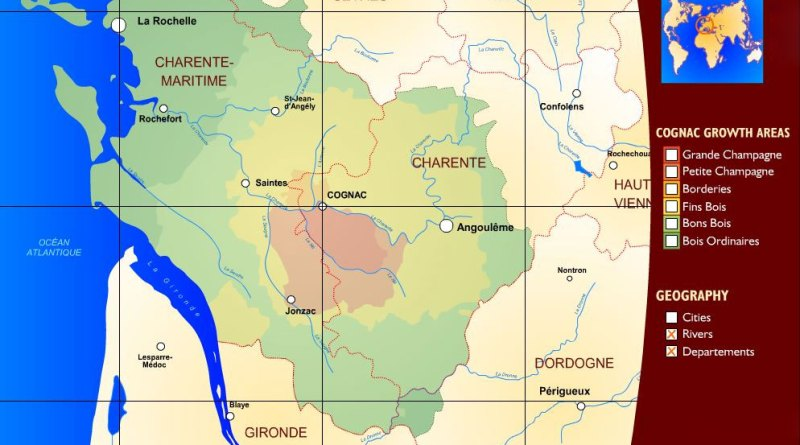 Map of Cognac France