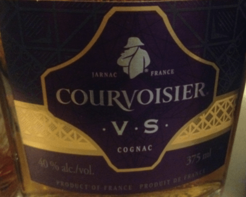 Courvoisier VS label