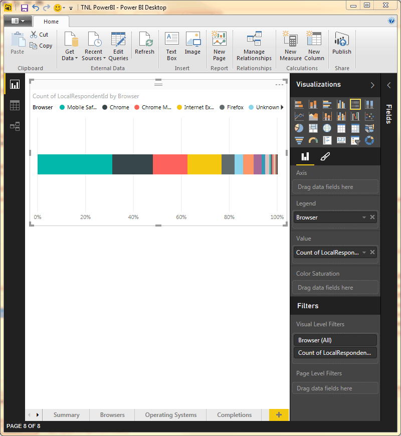 Power BI stacked bar chart