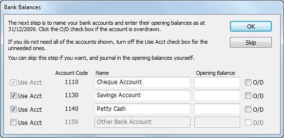Bank Balances
