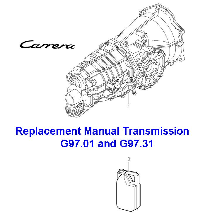 Porsche 911 Replacement Manual transmission G97.01/G97.31