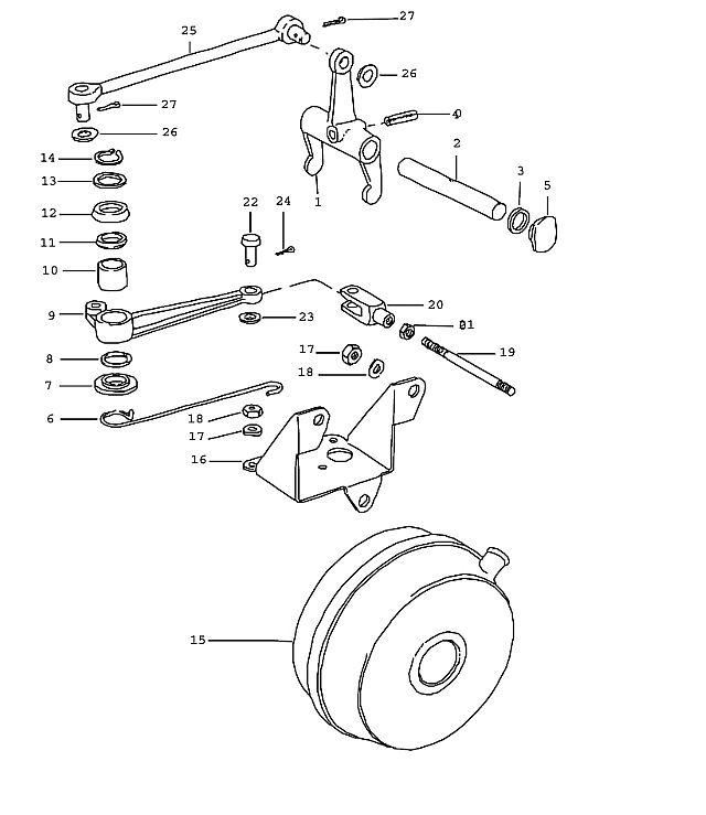 Porsche 911 Transmission Cotter pin 2X15 hinge bolt