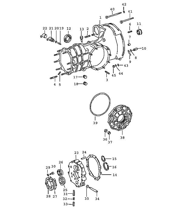 Porsche 911 Transmission Transmission Case Complete