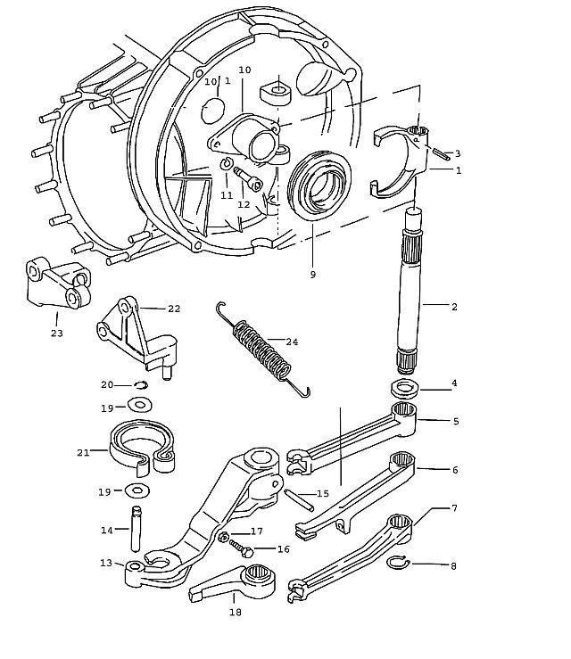 Porsche 911 Transmission Clutch Release Lever