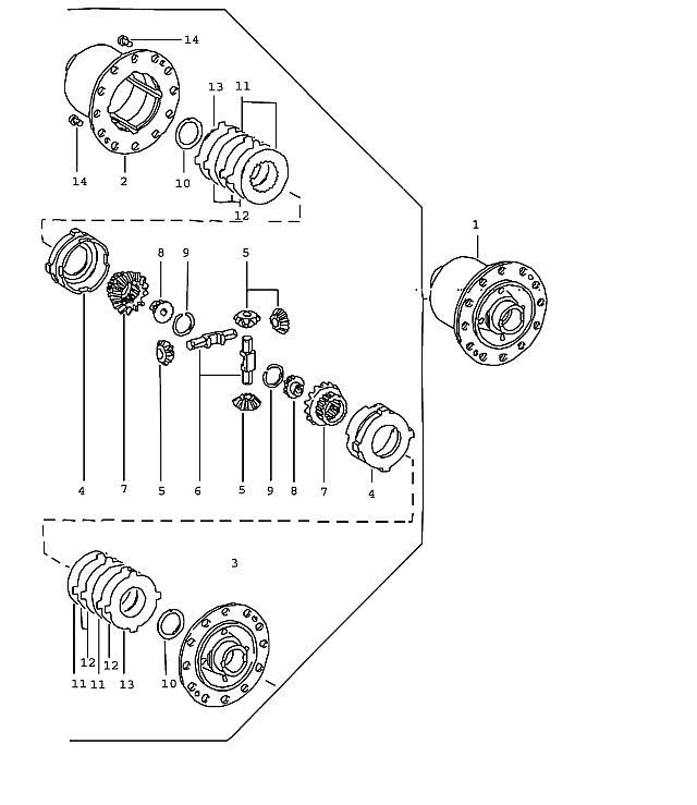 Porsche 911 (915) Manual Transmission Limited slip 1974-77