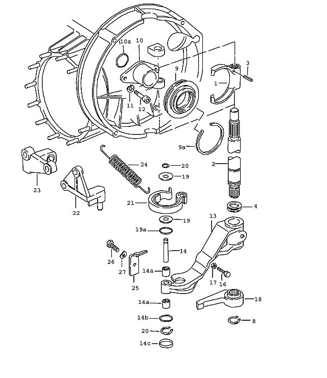 Porsche 911 Transmission Change Lever