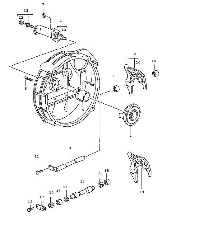 911 1987-1989 Guide tube…
