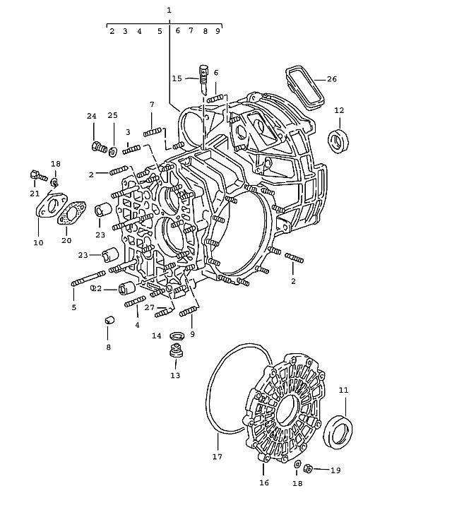 Porsche 911 Transmission Transmission Side Cover G50