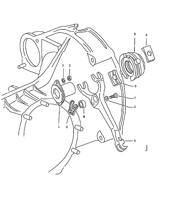 Porsche 914 Transmission Guide bushing Piece