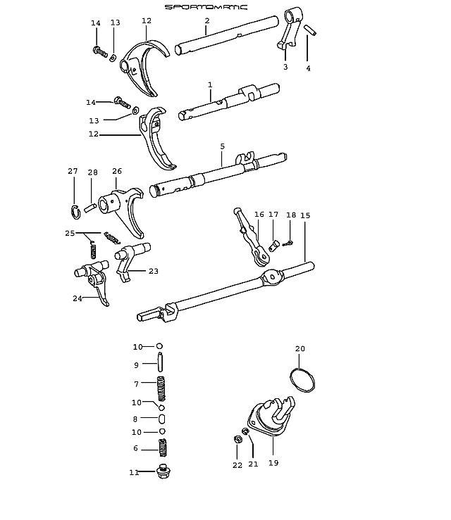 Porsche 914 Transmission Gear Shift Rod For Reverse Gear