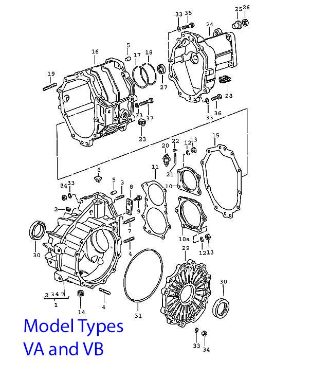 Porsche 924 Manual Transmission Case, 5 speed 1976-79