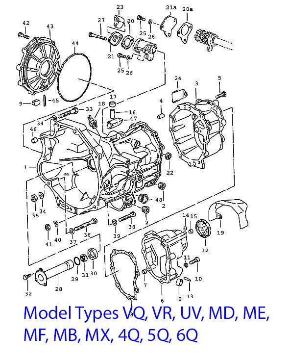 Porsche 924 Manual Transmission Case 924 Turbo 1980-85