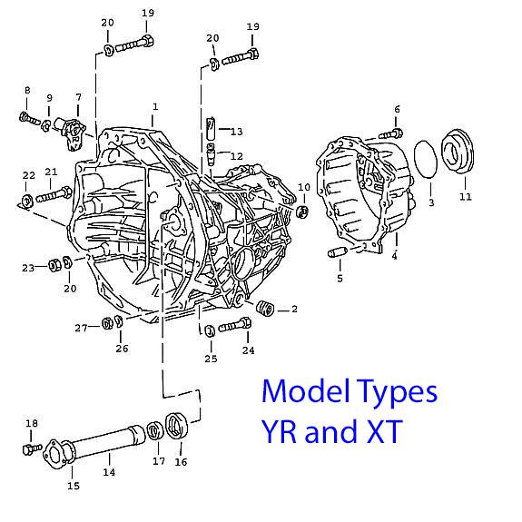 Porsche 924 Manual Transmission Case, 4 speed 1976-79
