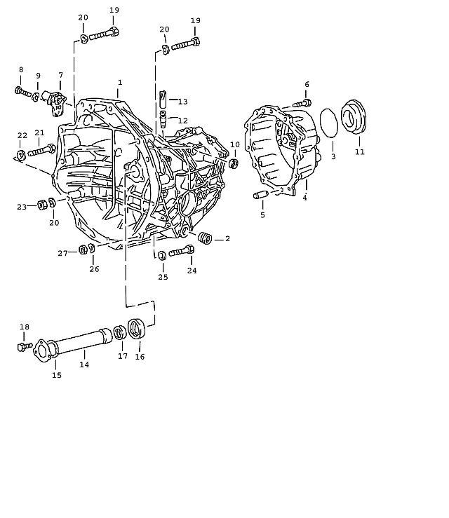 Porsche 924 Transmission Trans Drain Plug M 24X1.5