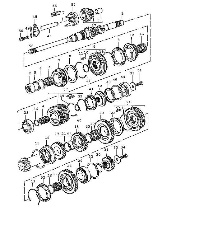 Porsche 924 Transmission Lock ring
