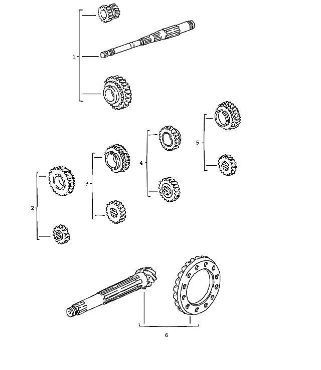 Porsche 924 Transmission Gear Set 5Th Speed