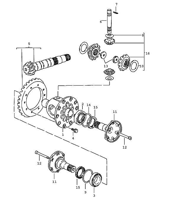 Porsche 924 Transmission Nut