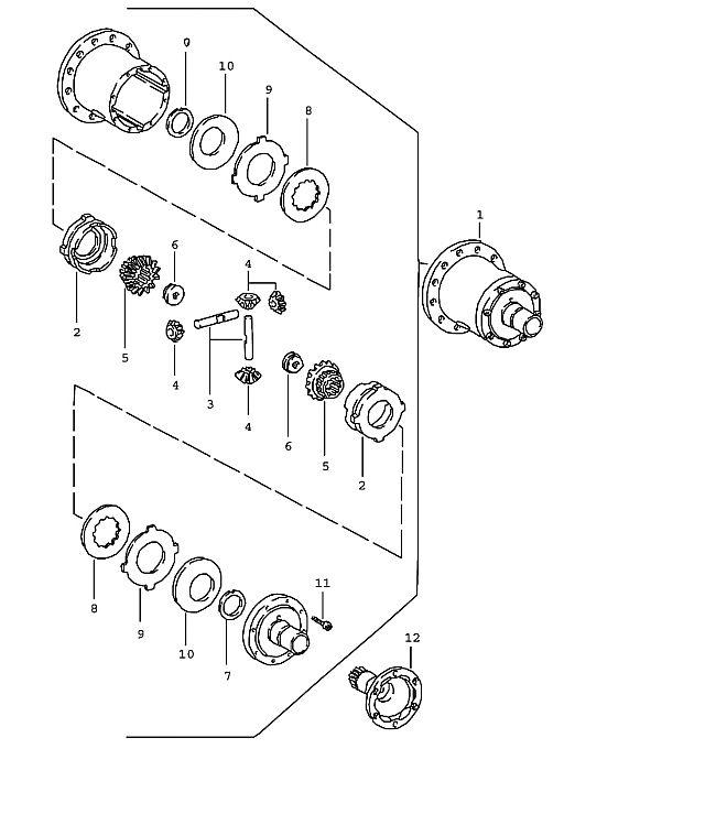 Porsche 924 Transmission Limited-Slip Differential