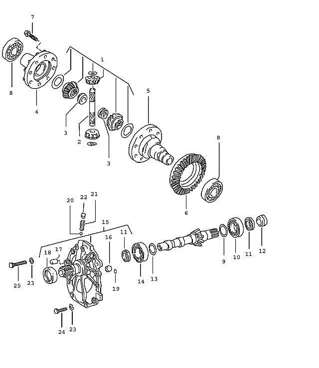 Porsche 924 Transmission Adjusting Shim 1.825