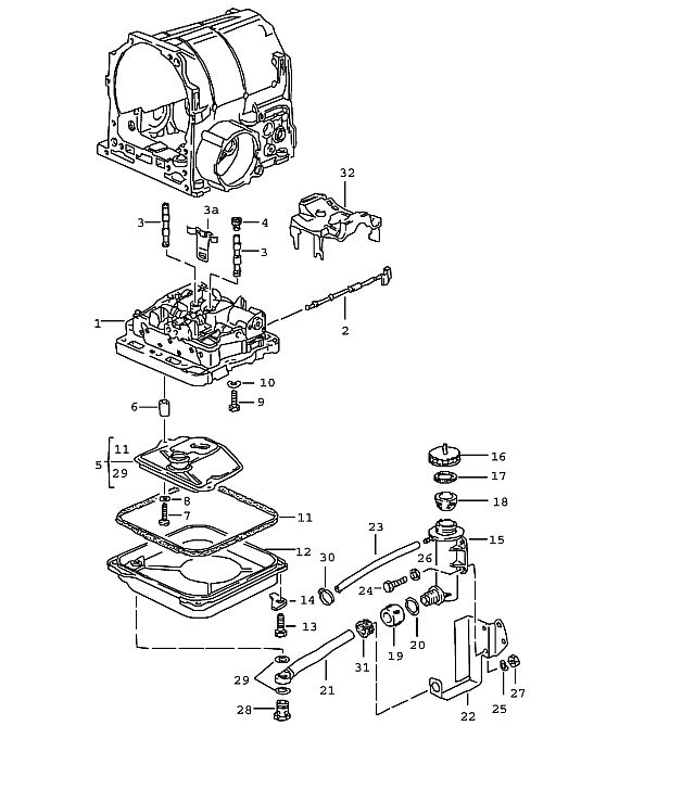 Porsche 928 Transmission Spring washer A 8