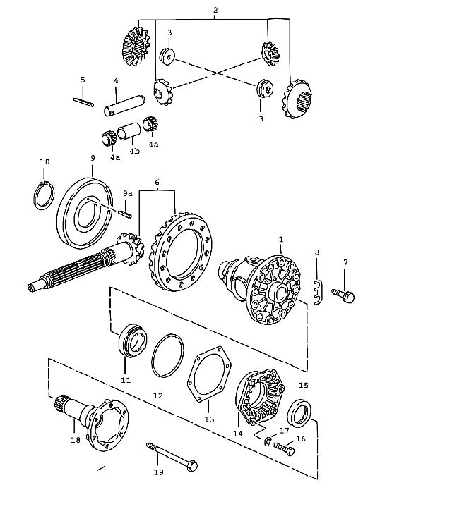Porsche 928 5 Speed Transmission Differential 1983-86