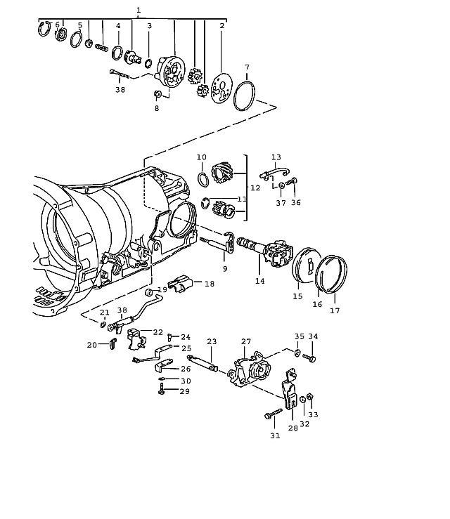 Porsche 928 Transmission Snap ring