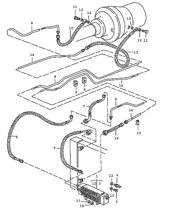Porsche 928 Transmission Pressure Hose