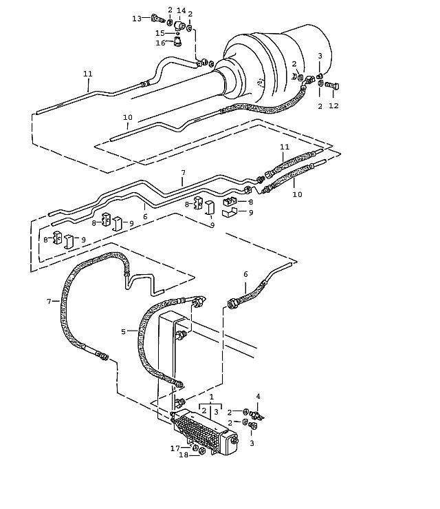 Porsche 928 Transmission Oil Pipe Supply