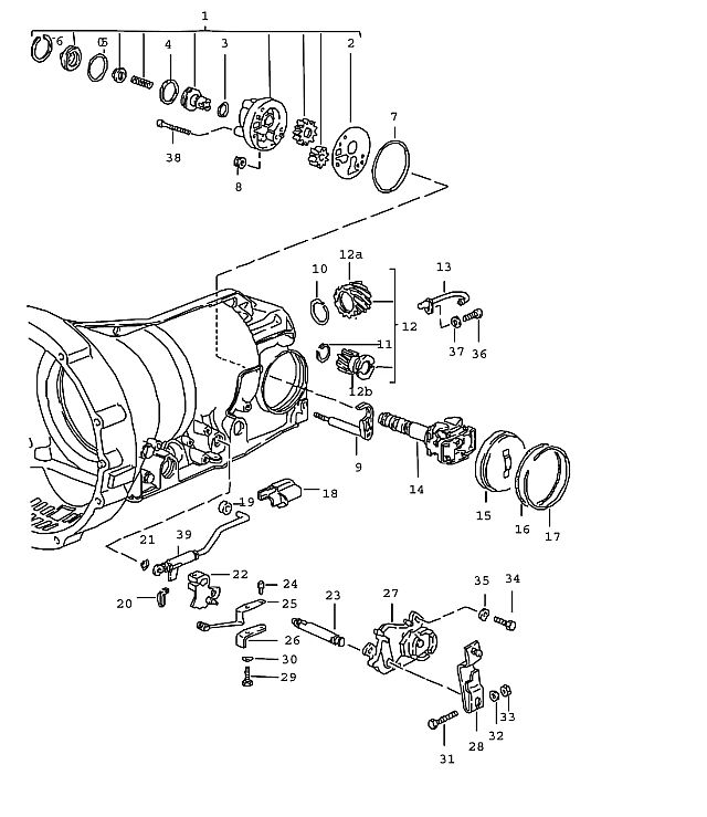 Porsche 928 Transmission Pan-head screw