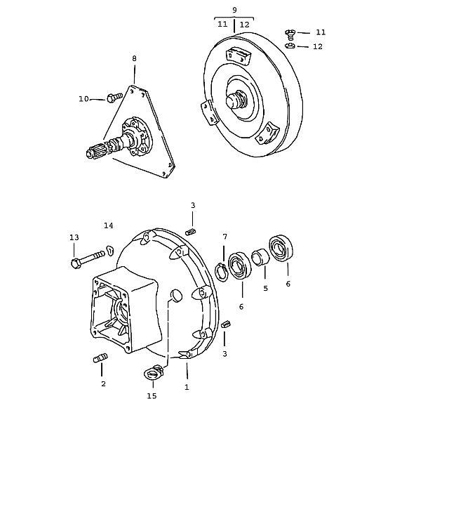 Porsche 928 Transmission Converter Housing Front
