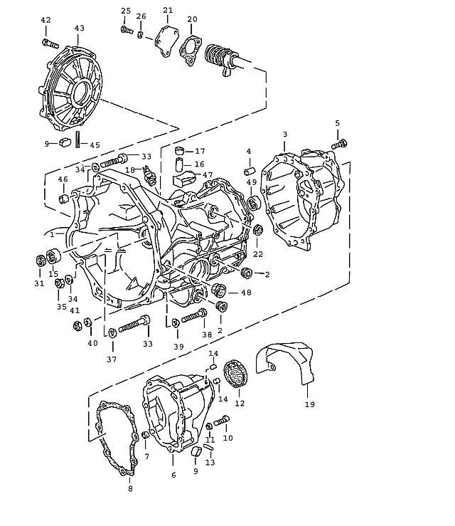 Porsche 944 Transmission Hexagon-head bolt m 6x17