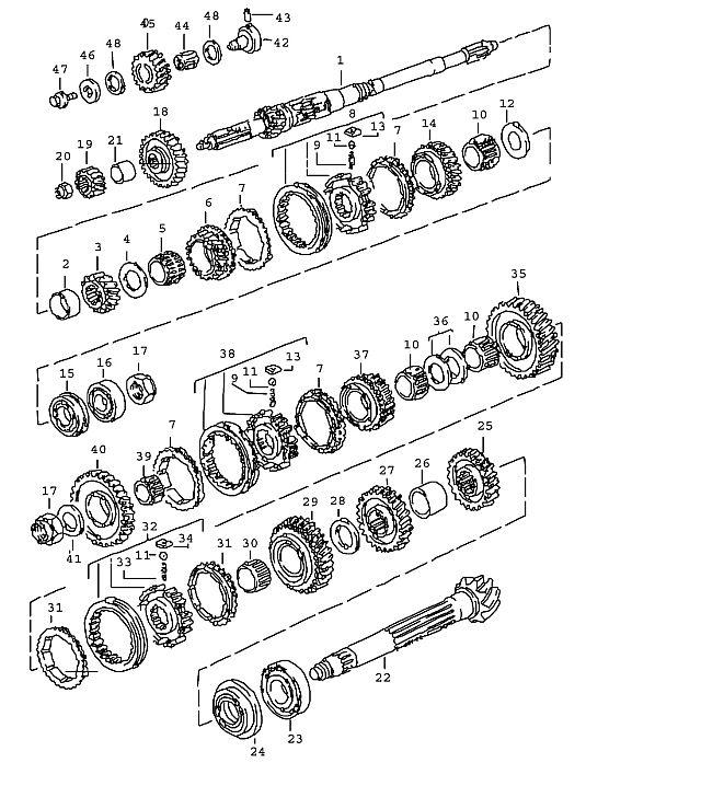 Porsche 911 Transmission Thrust Washer