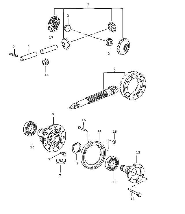 Porsche 911 Transmission Needle cage comprising: 31